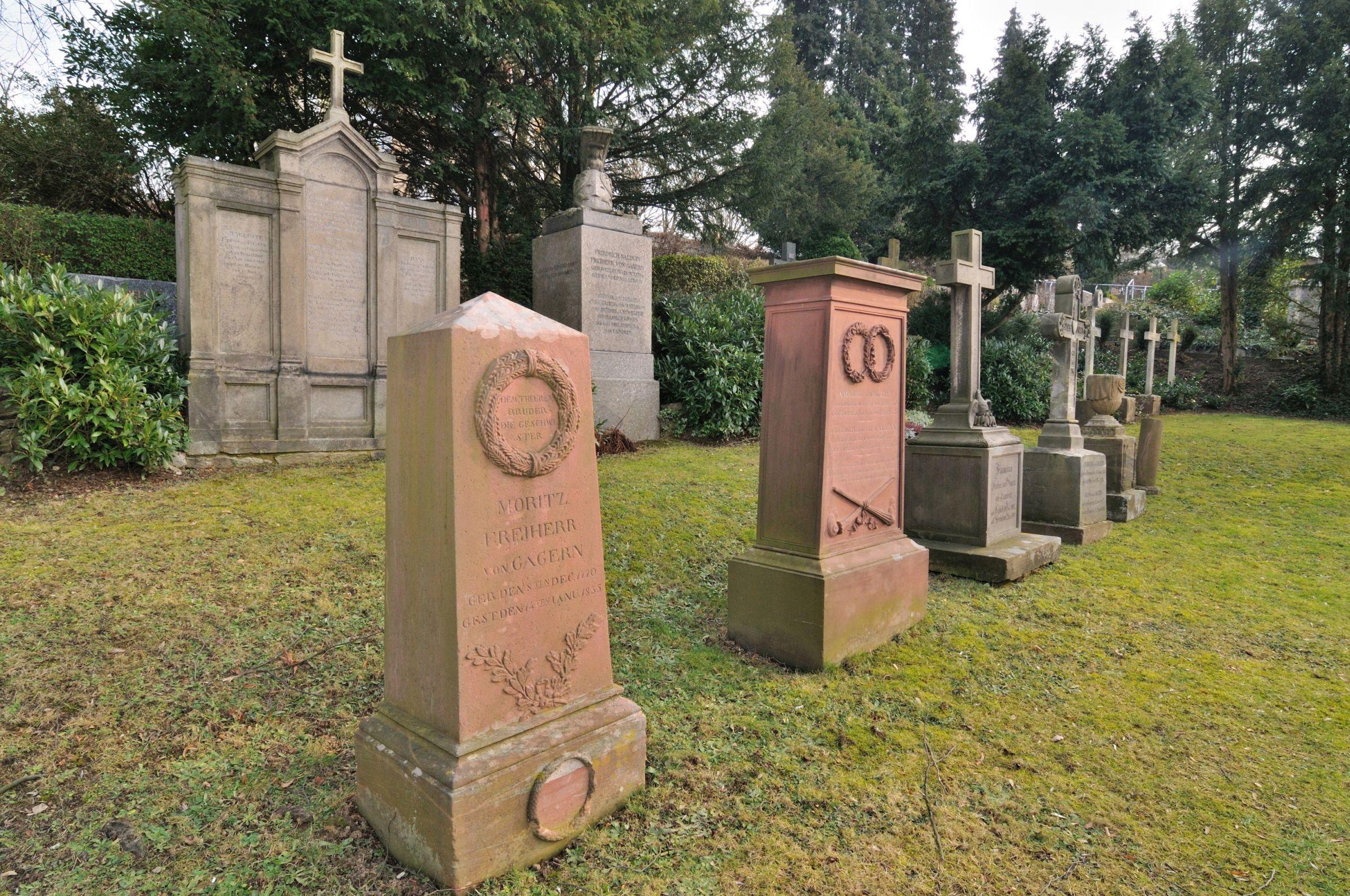 Die Gräber der Familie von Gagern. Foto: Birgit Gröger