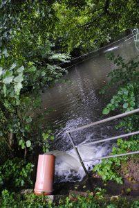 Bild 17: Abfluss des gereinigten Abwassers in der ARA Ruppertshain