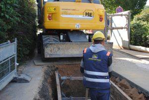 Bild 7: Kanalerneuerung im Drosselweg im September 2013